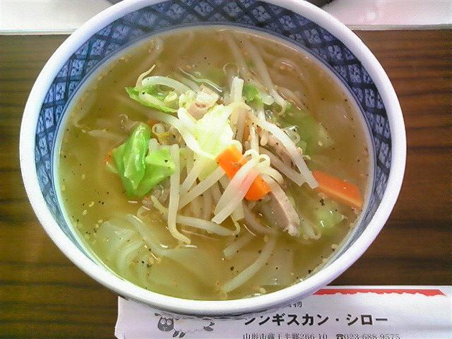 ジンギスカンシロー「野菜温麺」蔵王半郷