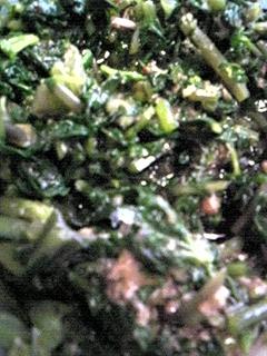 葉わさびの調理